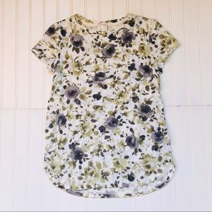 Anthropologie Postmark Fall Floral Tee